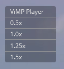 ViMP Player Context Menu
