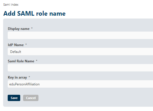 ViMP SAML Role mapping